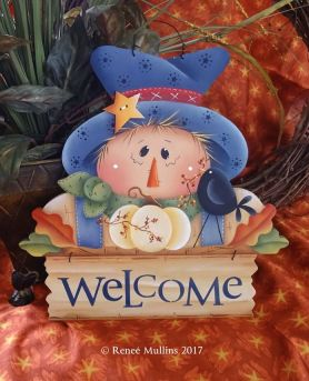 "#713 ""Scarecrow Welcome Topper""  (PATTERN)"